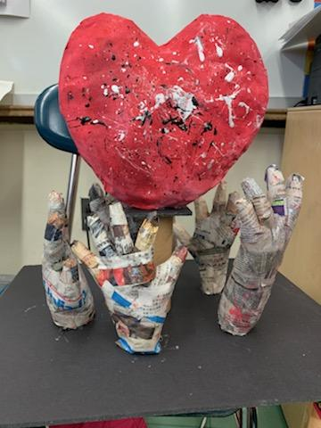 Class 5-4  Ms. D'Agostino :Loving Hands Sculpture