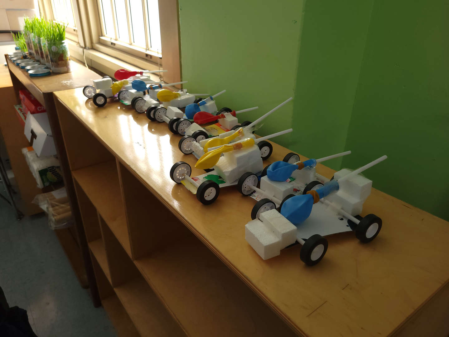 Students created a model of a race car.