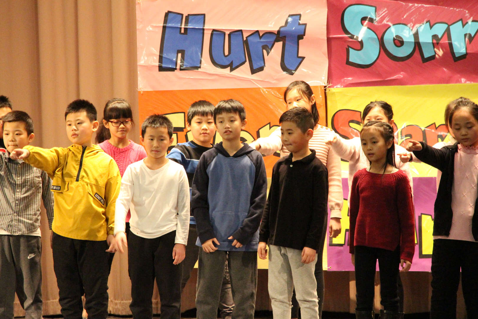 Students performing the musical.