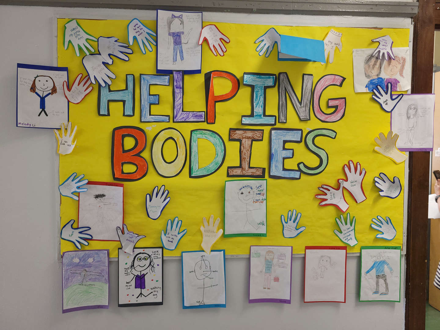 Students learned how to take care of their bodies.