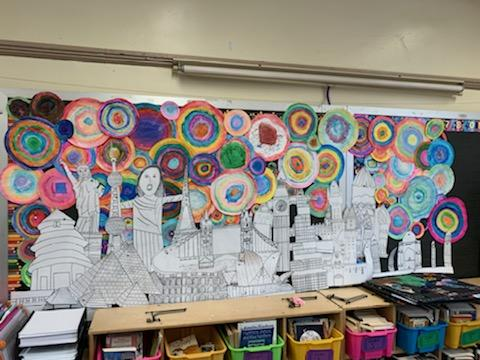 Class 5-4  Ms. D'Agostino: Circles of Life Display