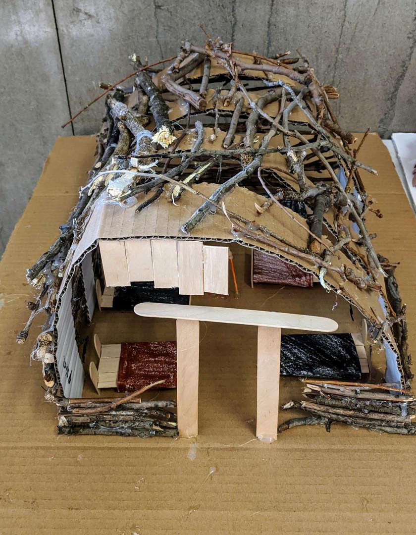 Student designed longhouse.