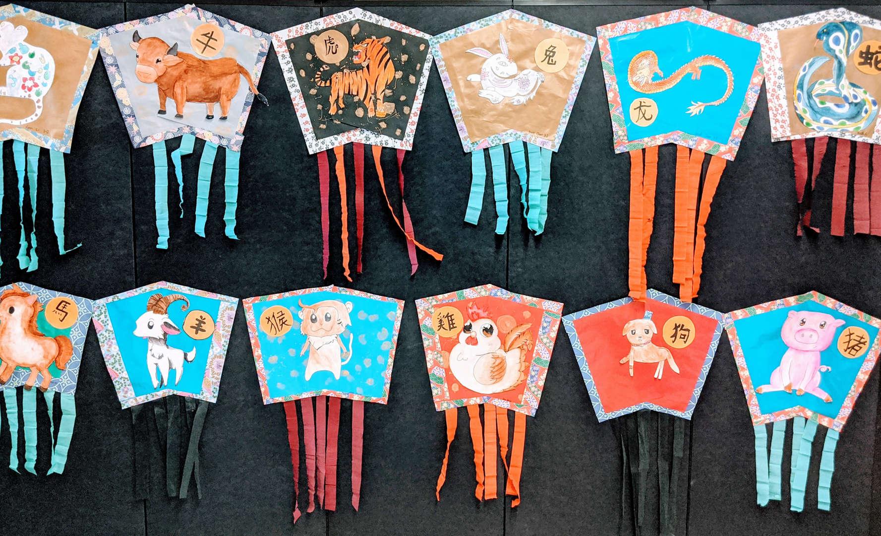 Chinese paper kites.