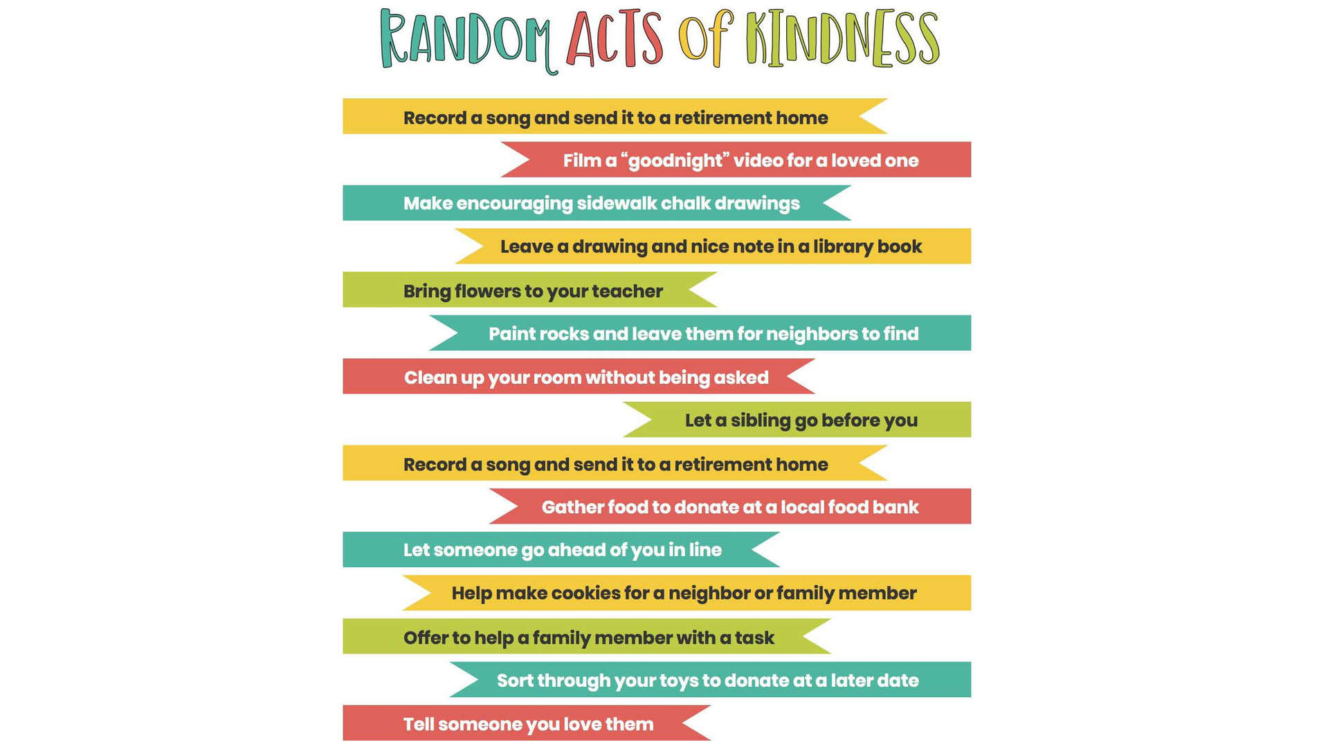 Examples of Social Distancing and Random Acts of Kindness