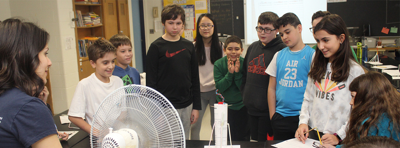 In Mrs. Balcer's Science Classes, students created structures that can stand the force of a hurricane.