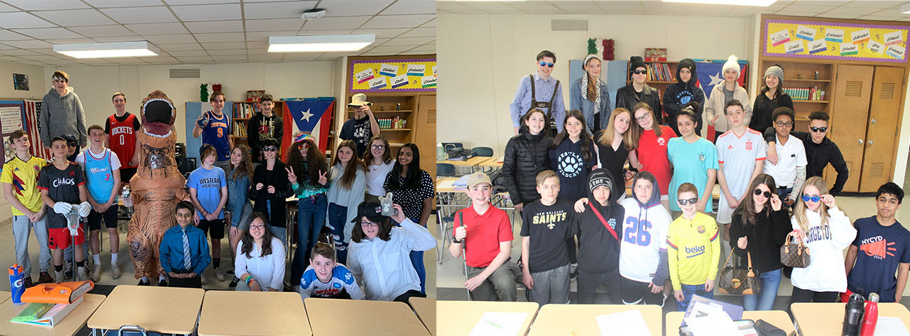 Fashion Show in Mrs. Iannone's Eighth Grade Spanish Classes.