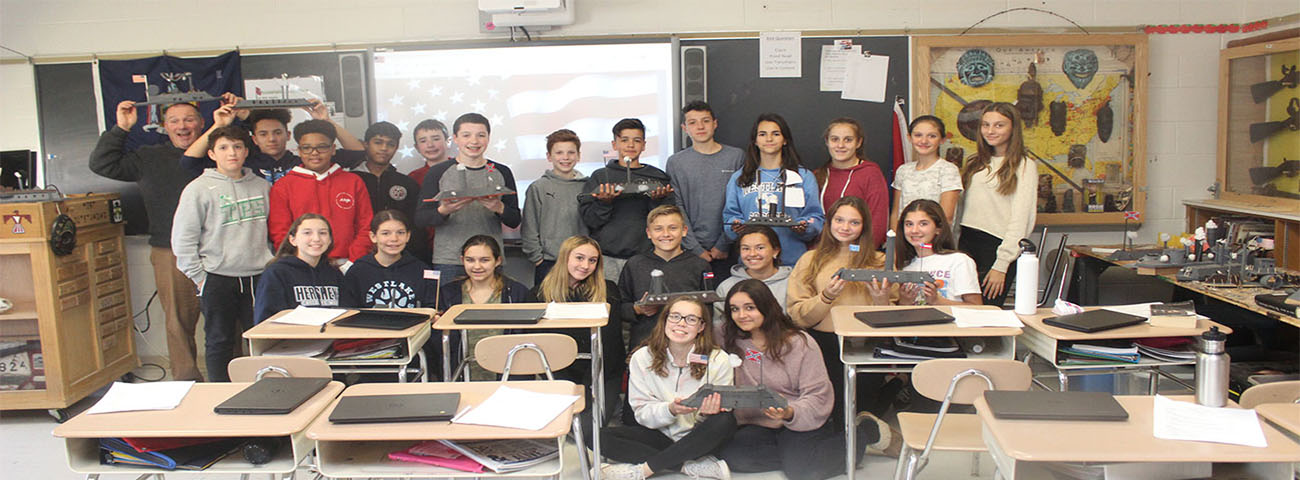 n Mr. Messemer's and Mr. Hennessy Classes, students built Ironclads.