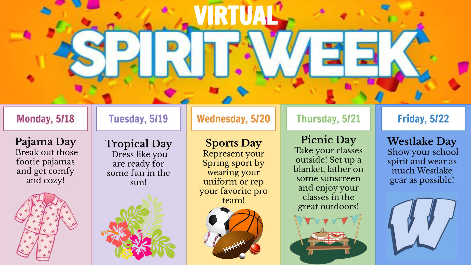 The Days of Spirit Week!