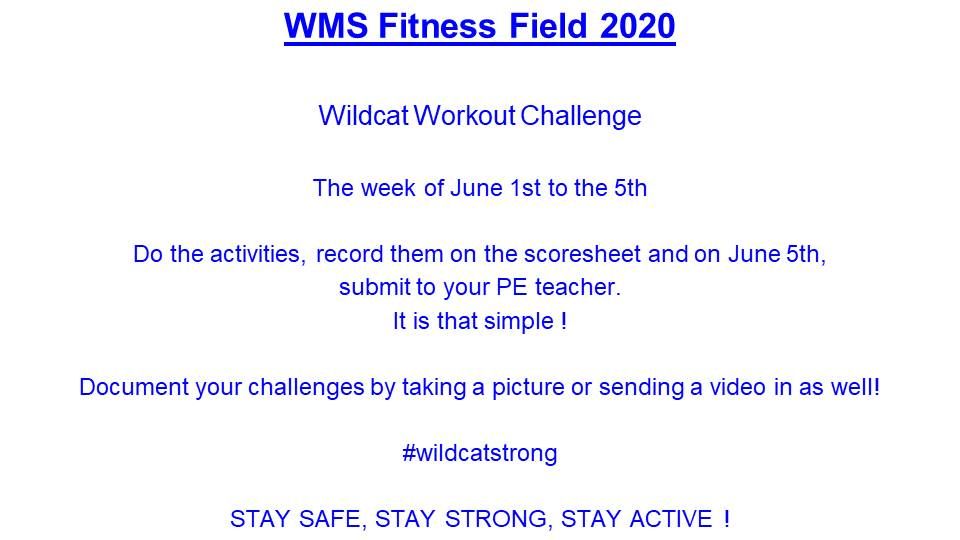 Wildcat Workout Challenge