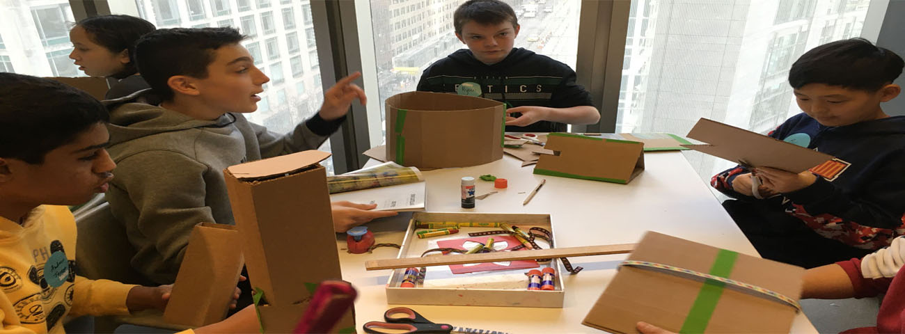 Students created ideas for a sanctuary space to shelter people affected by natural disasters.