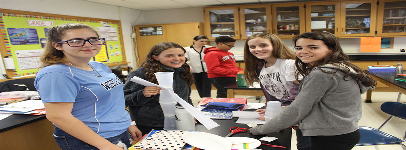 Science 7 students learn about the Engineering Process from IBM employees and then design, build and test a ski jump created from paper, cups, plates and popsicle sticks.