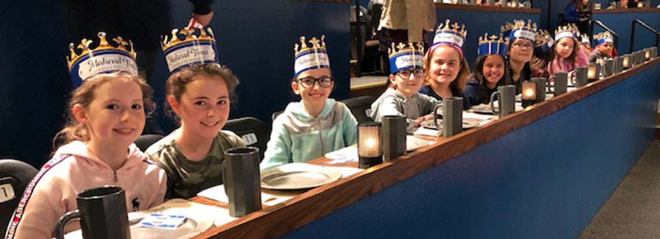 Sixth graders enjoy the show and lunch at Medieval Times.
