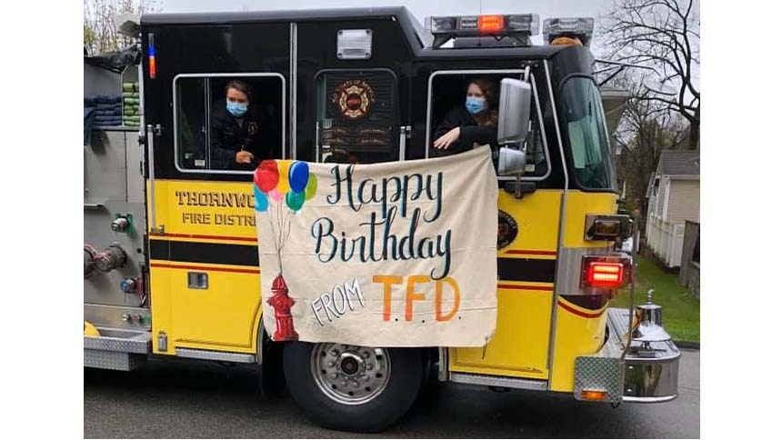 Firetrucks Help Celebrate Birthdays