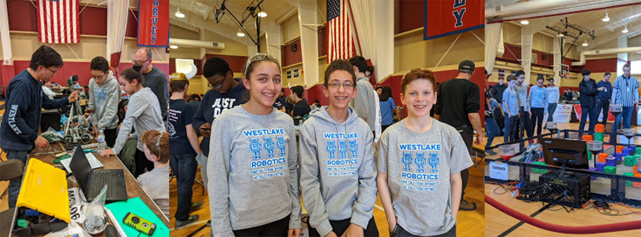 Students at the Robotics Competition.