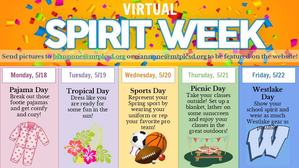 Days of Spirit Week