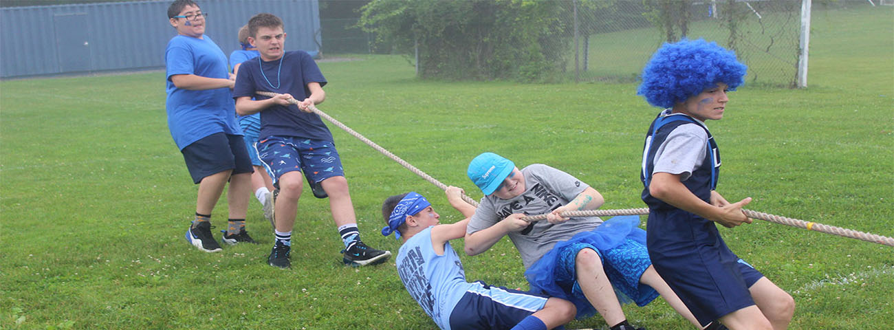 Field Day, Sixth Graders and Tug of War!