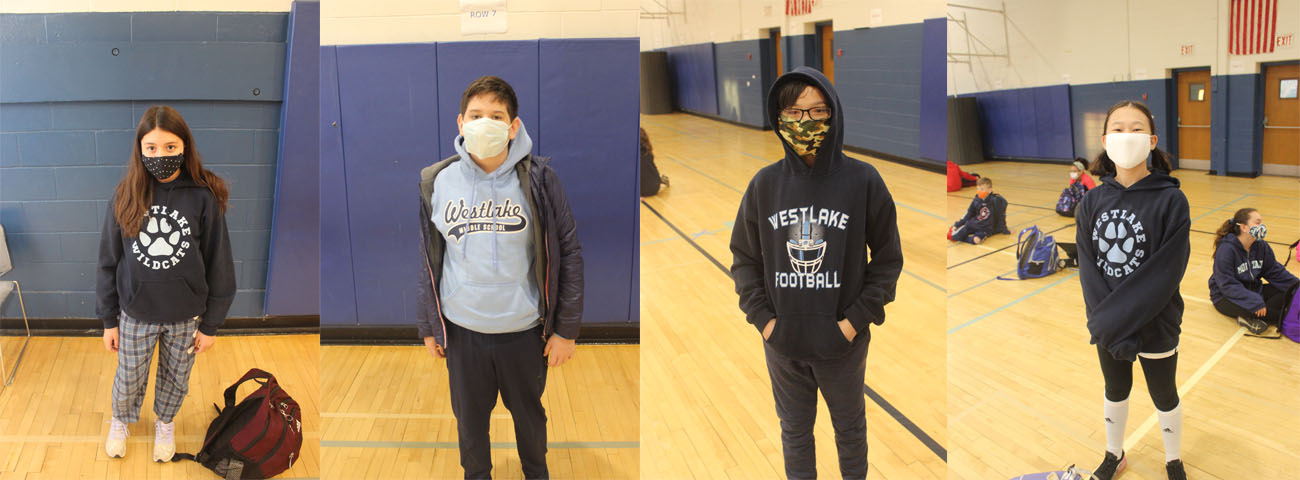 Students dressed for Westlake Spirit Day!
