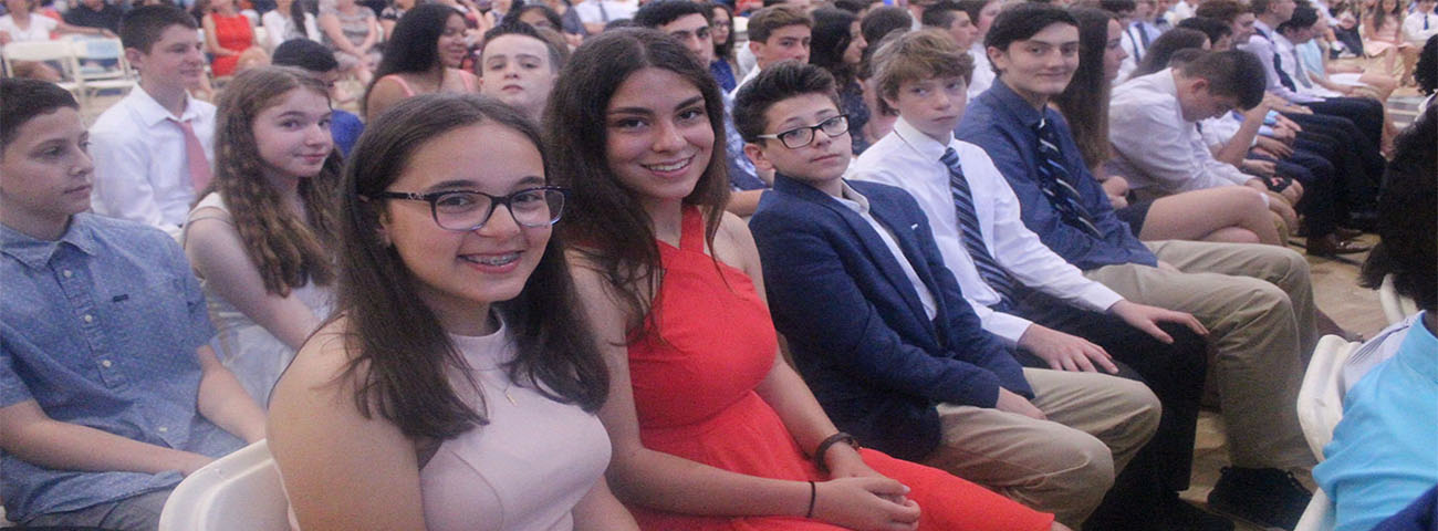 Eighth Grade Moving-Up, June 25, 2019.