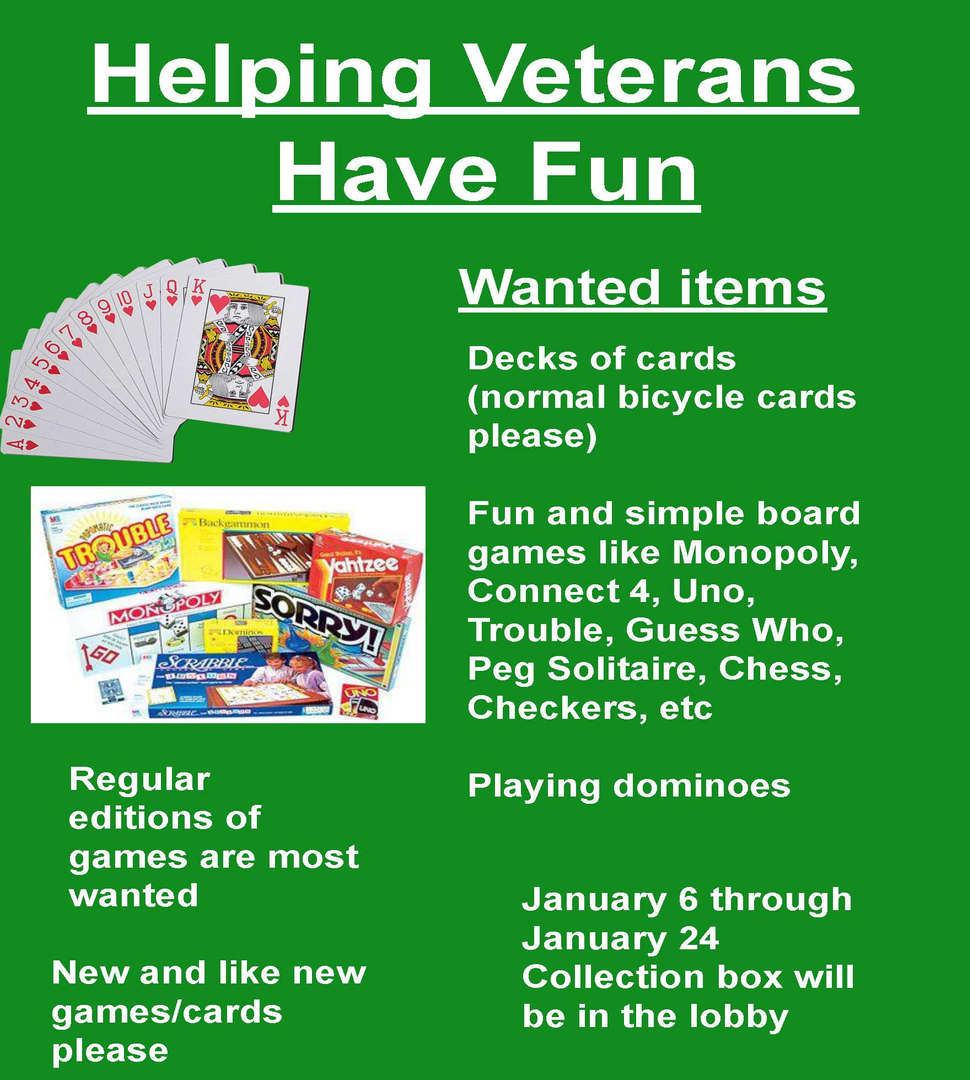 Donations-Helping Veterans Have Fun.