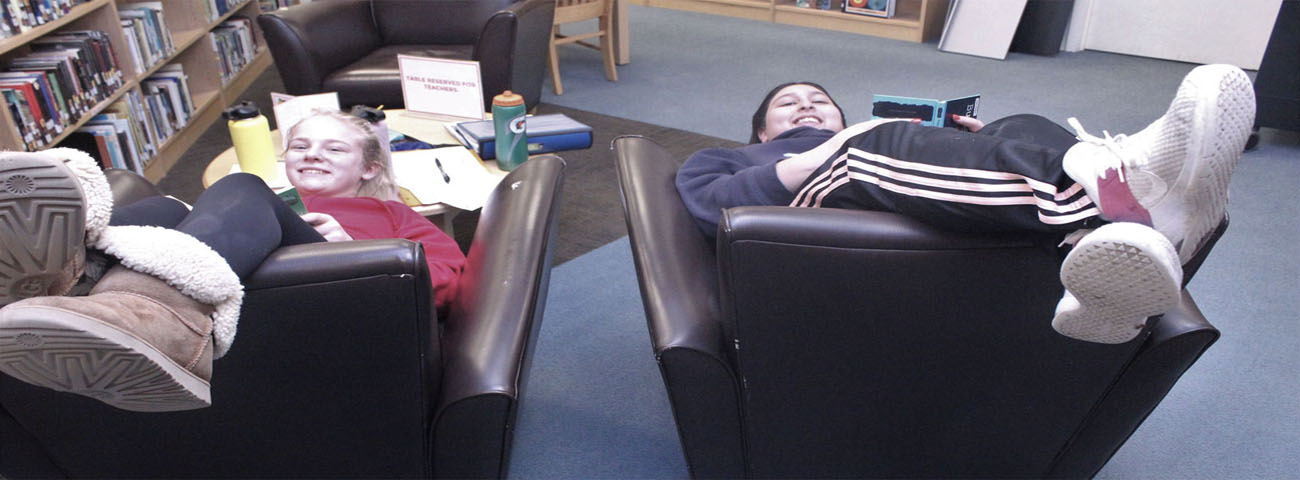 There is nothing like reading a book in the library!