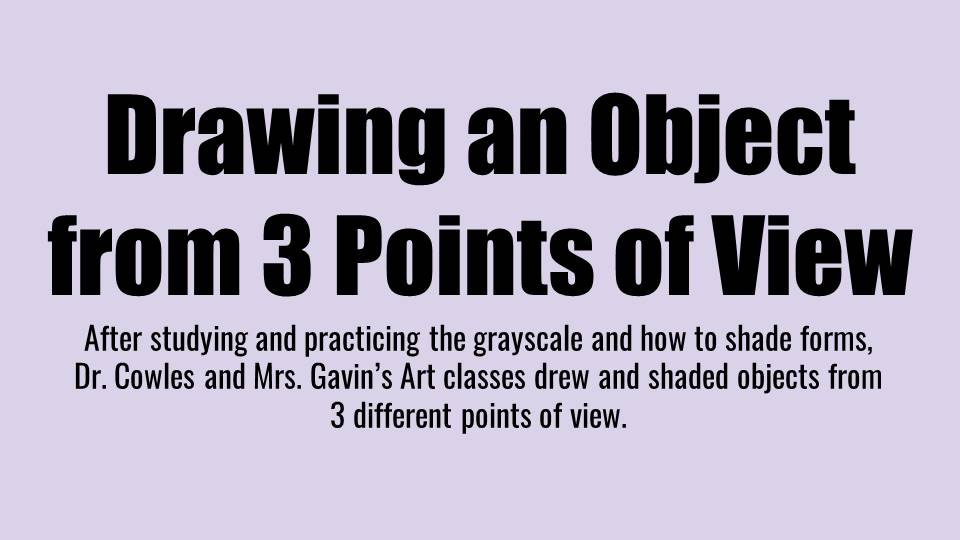 Drawing am Object From 3 Points of View