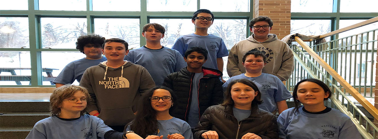 Our Science Olympiad Team with Ms. Laccetti, Mr. Hall and Mr. Szczerba competed against 35 teams in over 20 events at Scarsdale Middle School on Saturday, March 2.