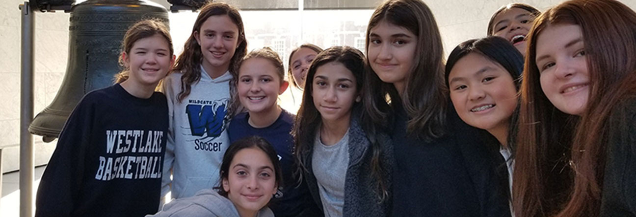 Our Seventh Graders are in Philadelphia.