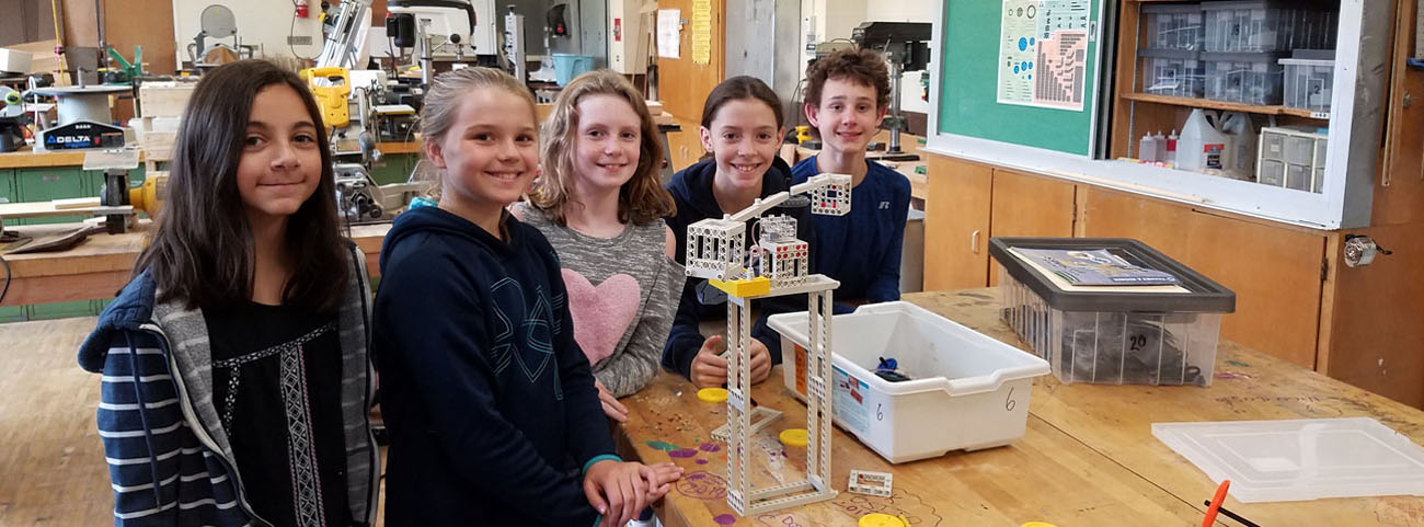In Mr. Perry's Class, students were challenged to design and build amusement park rides.