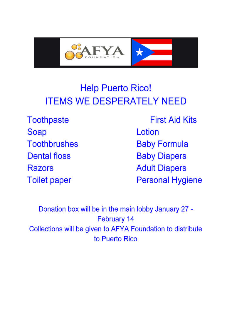 Helping Puerto Rico