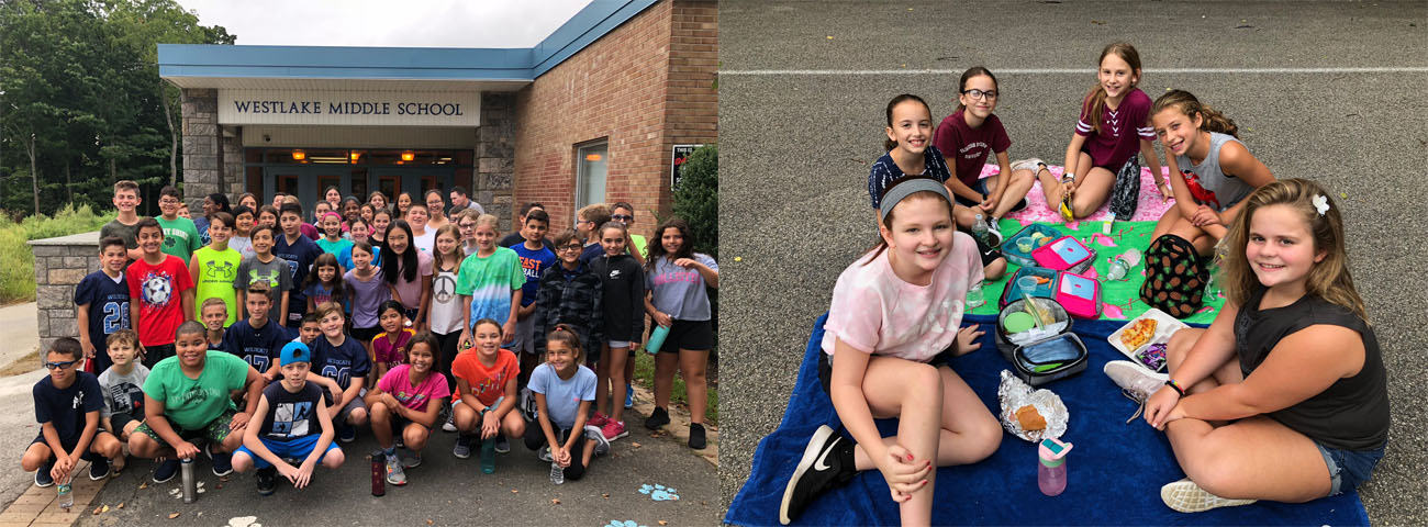 Some of our soon to graduate 8th graders as 6th graders back in 2019.