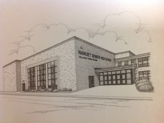 Hand drawn picture of Nanuet Senior High School