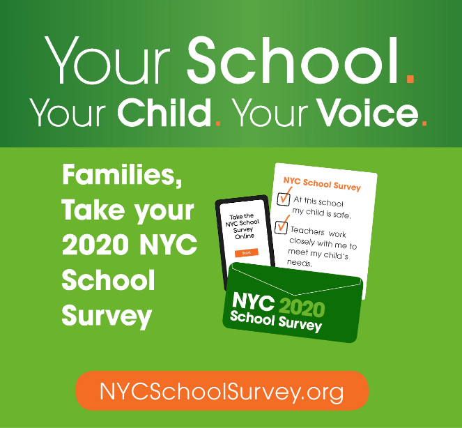 Families don't forget to take your NYC School Survey.