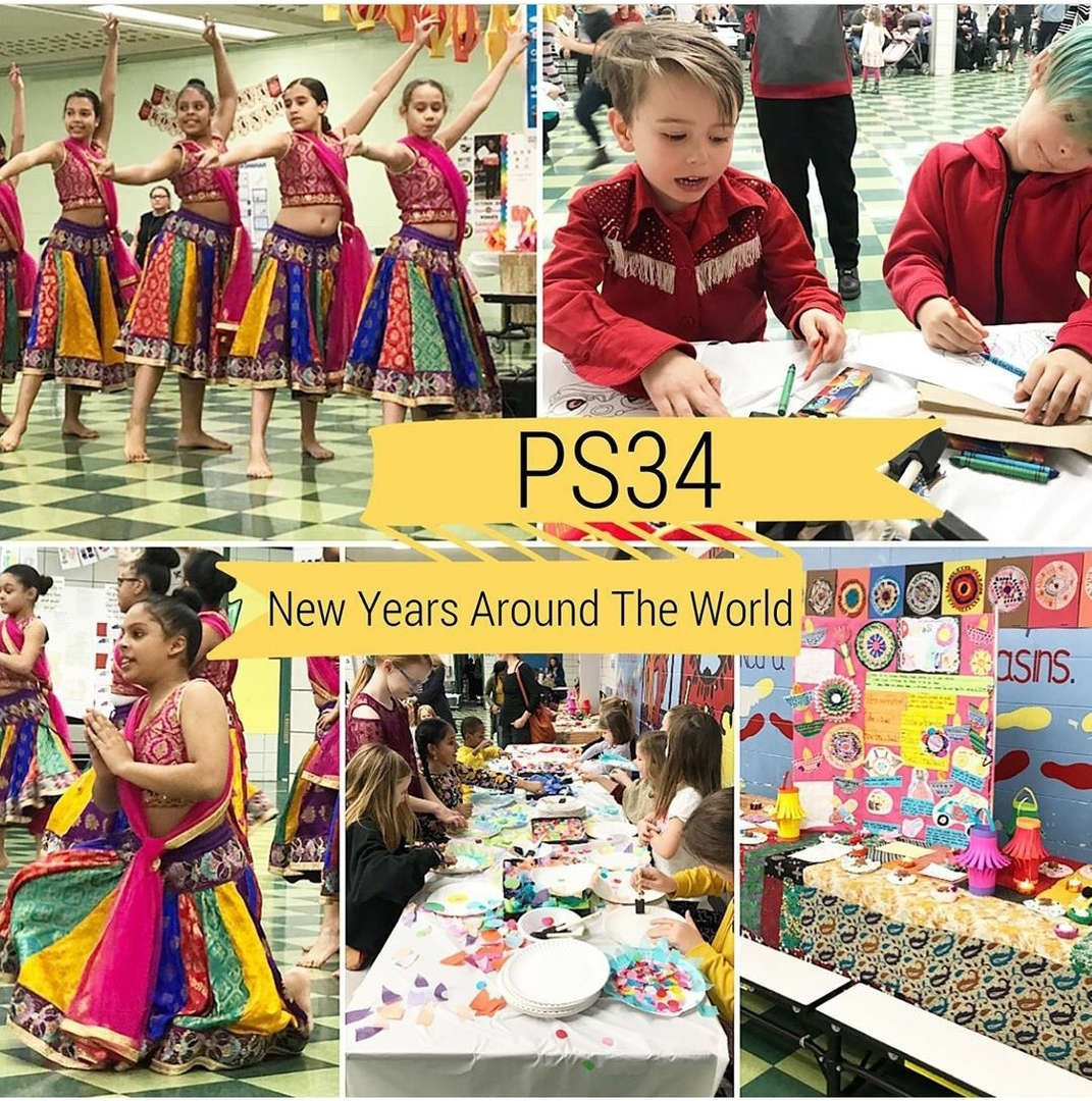 Cultural  event collage showing Diwali performance,  student projects , arts and crafts.