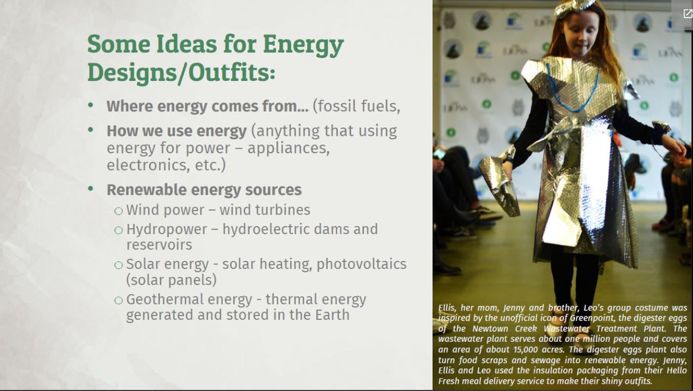 Some ideas for energy design outfits