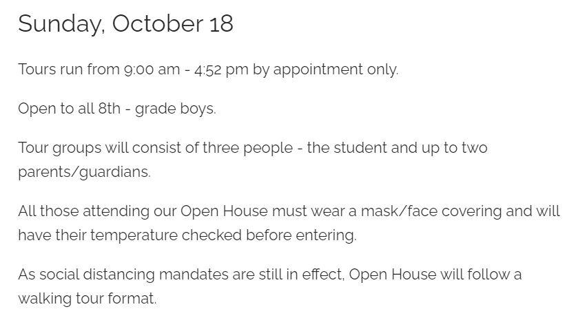 Farrell Open House Information
