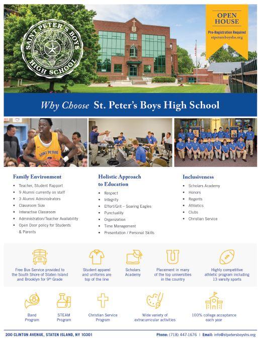 St. Peter's Boys High School Fact Sheet