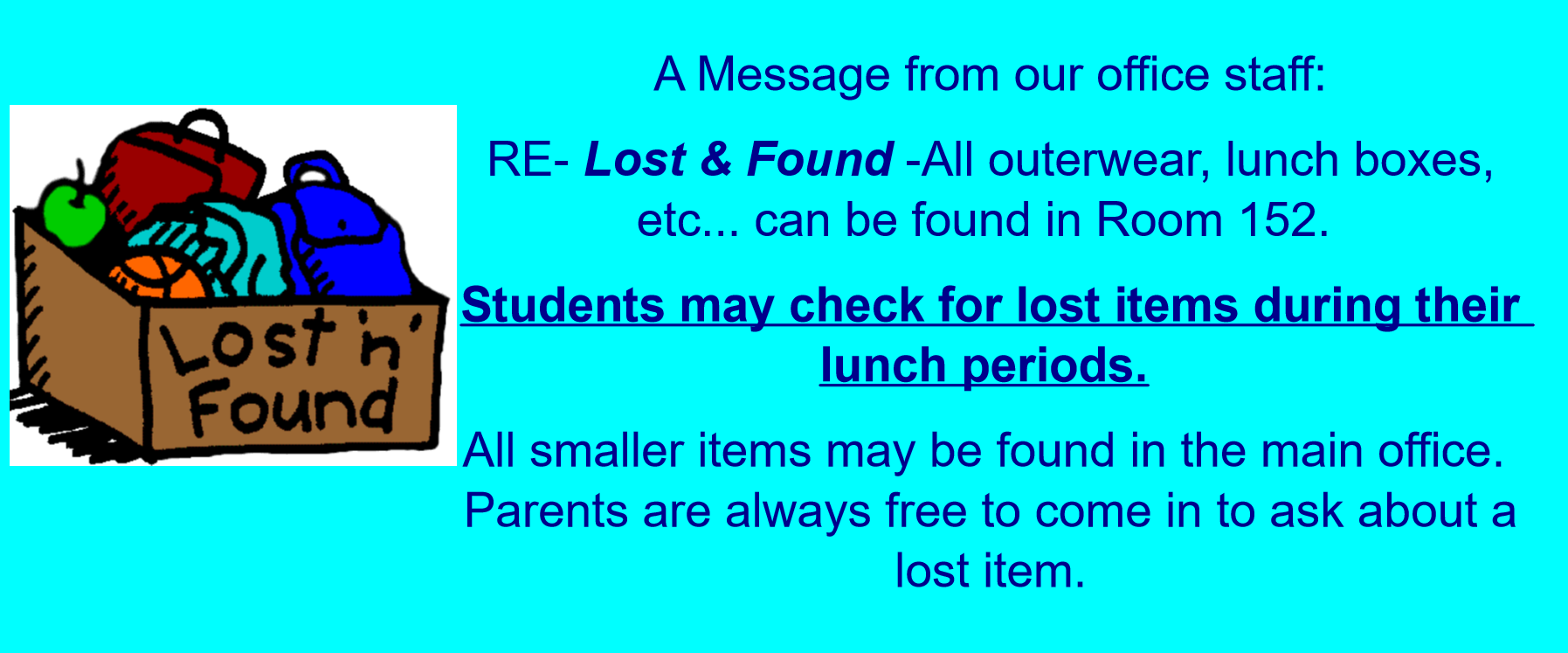 Lost and Found Announcement
