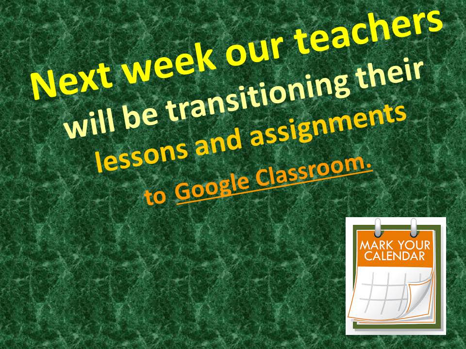 LCO Teachers transitioning to Google Classroom on May 4, 2020