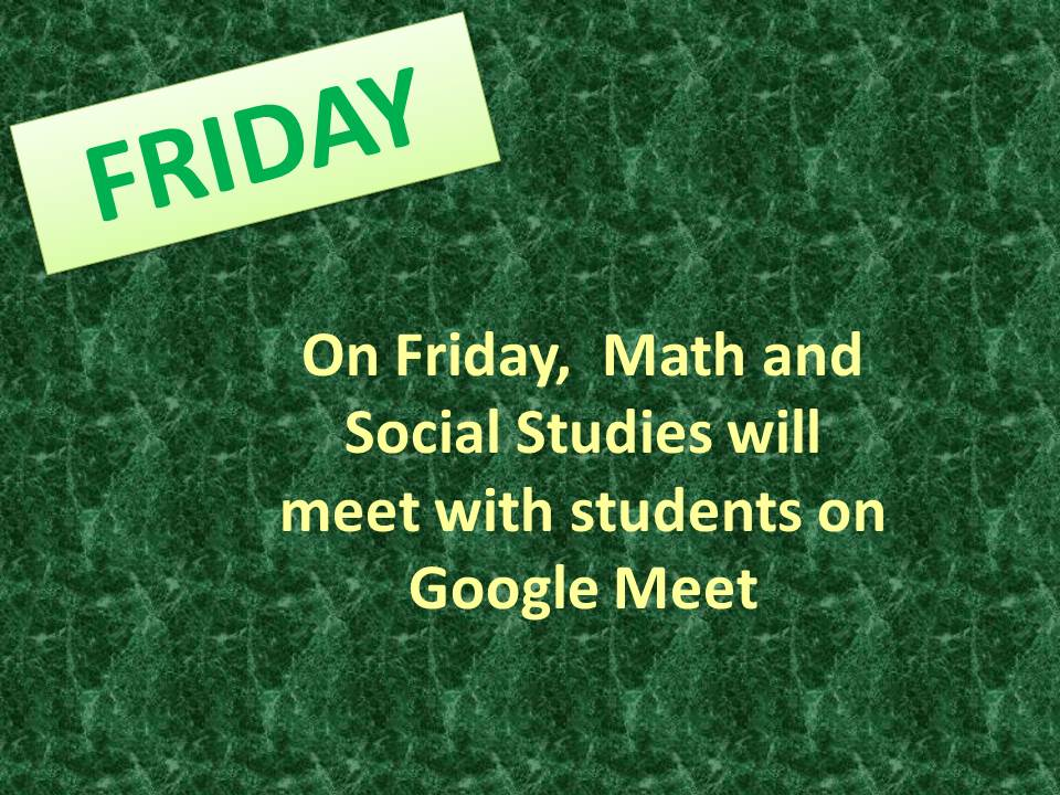 LCO Math and Social Studies teachers meet with students on Google Meet