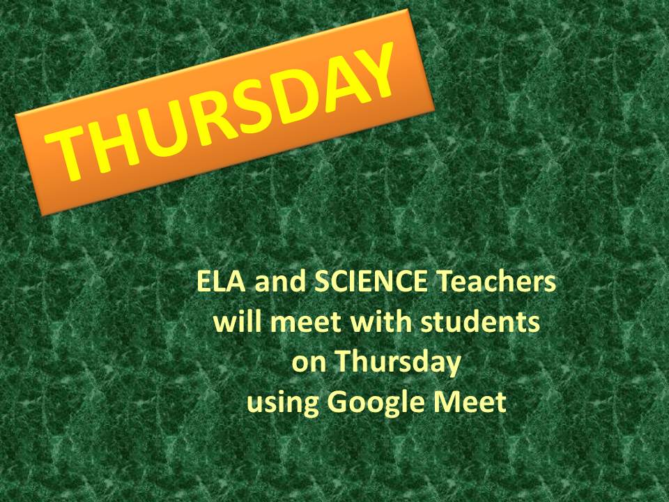 LCO ELA and Science Teachers meet with students on Google Meet