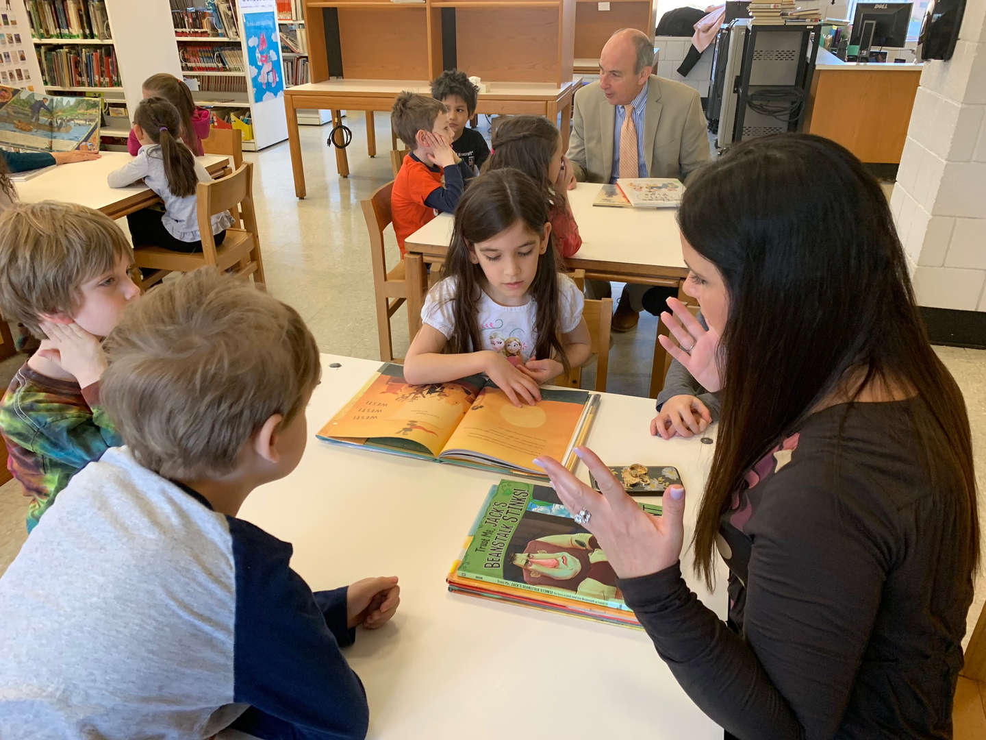 Member of the Nyack Rotary Club stop by to visit and read with our students 3.28.19