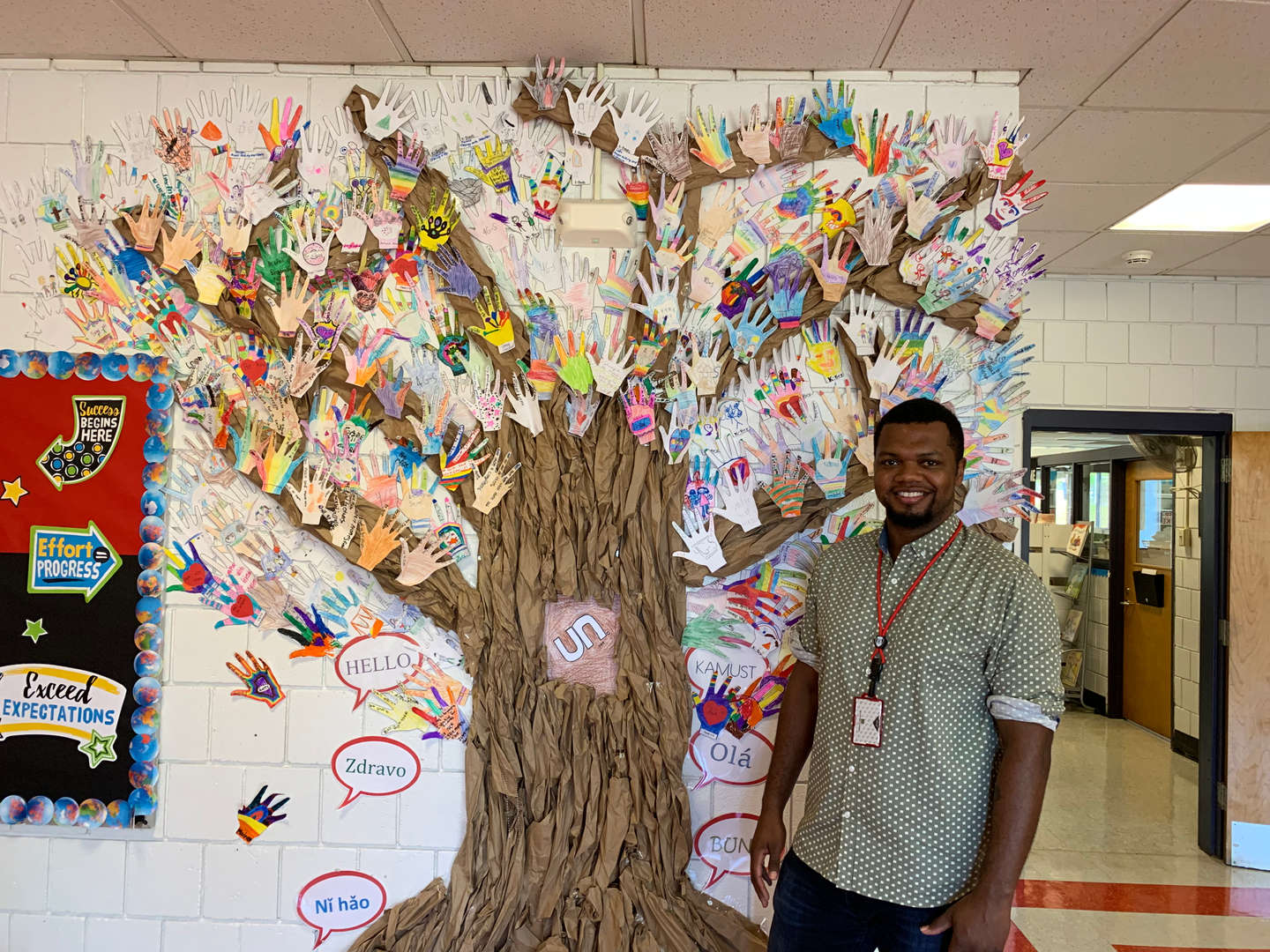 Mr. Hogg at the Upper Nyack Tree of Kindness
