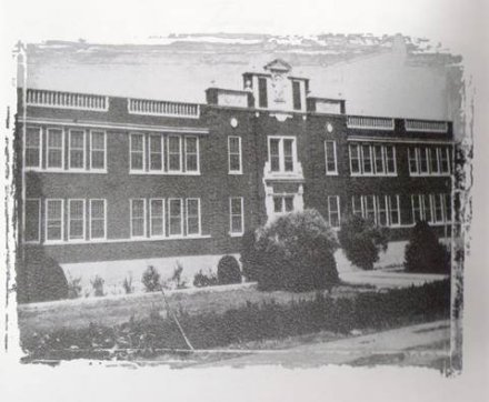 Gadsden High front fascade - black & white