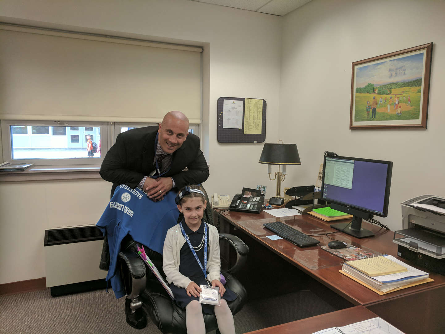 "Mr. Miele and Ms. Lilia Hafid, ""Principal for the Day"""