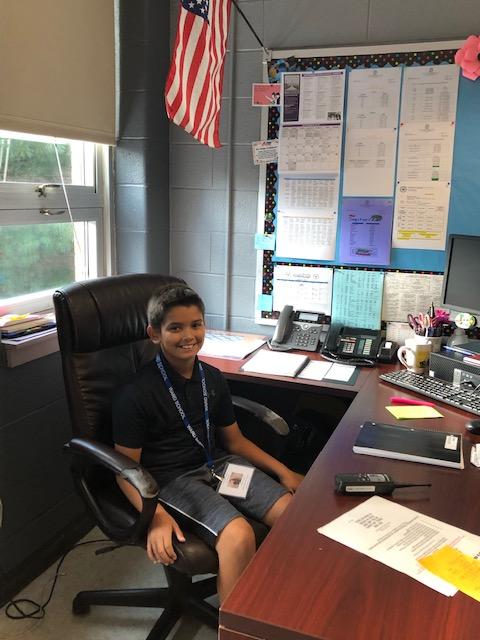 Student serving as Assistant Principal For The Day