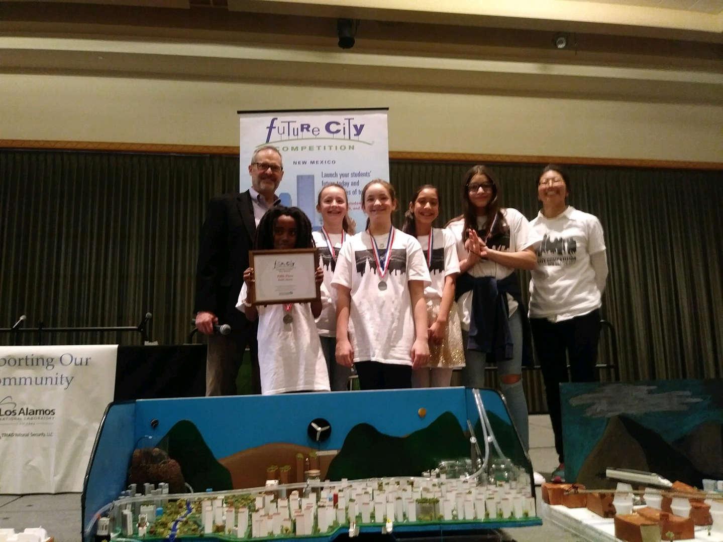 student team receiving award