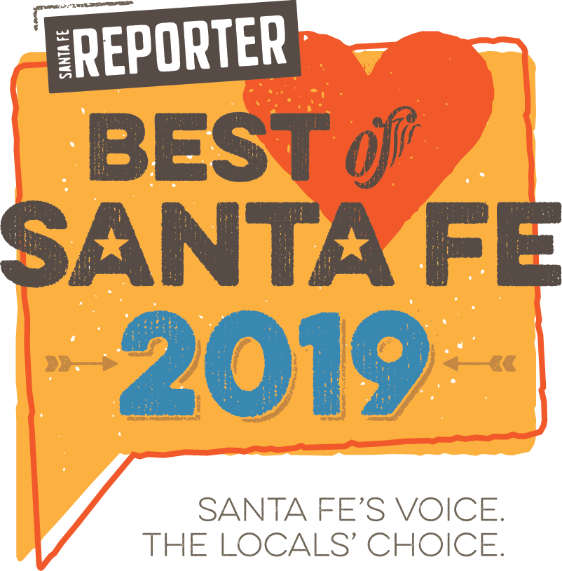 Award banner from Best of Santa Fe