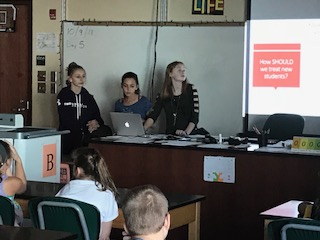 JHS Students Present Lesson