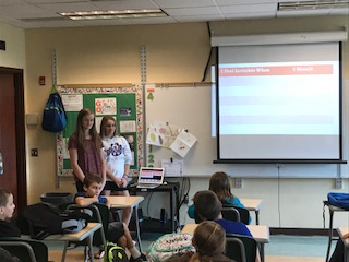 JHS students present lesson to 5th grade.