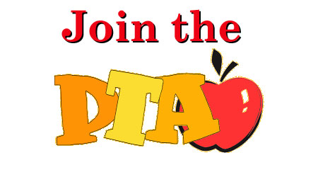 Join the PTA written over an apple